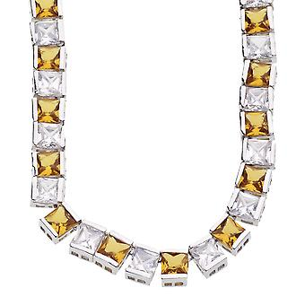 ICED OUT BLING chain - 6mm yellow cubic zirconia