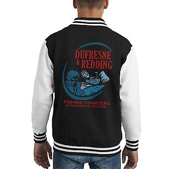 Shawshank Redemption Dufresene And Redding Charters Kid's Varsity Jacket