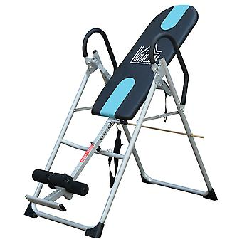 HOMCOM Foldable Gravity Inversion Table Back Therapy Home Fitness Bench Black