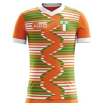 2020-2021 ساحل العاج موطن مفهوم كرة القدم قميص (أطفال)