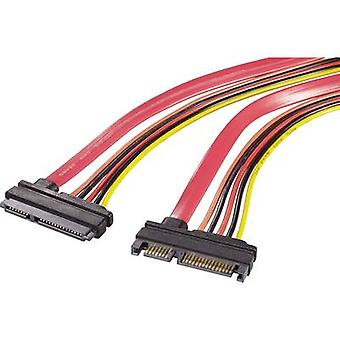 Renkforce Hard drives, Current Cable extension [1x SATA plug 22-pin - 1x SATA socket 2-pin] 0.50 m Red, Orange, Black, Yellow
