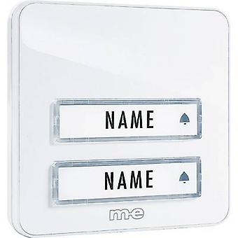 m-e modern-electronics KTA-2 W Bell panel incl. nameplate 2x White 12 V/1 A