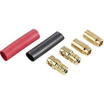 Schnepp DS 6 Banana plug Plug, straight, Socket, straight Pin diameter: 6 mm Red, Black 1 pc(s)