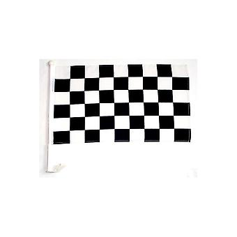 Union Jack Wear Black And White Checkered Car