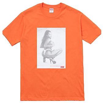 Supreme Ss17 Digi Tee - Orange - Clothing