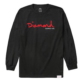 L/S T-shirt noir diamant Supply Co.