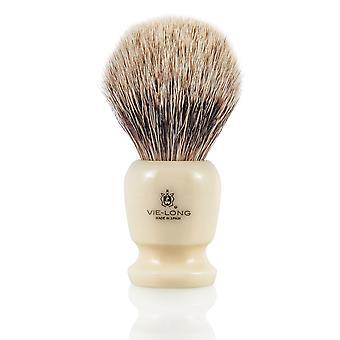 Vie-Long 16728 White Badger Shaving Brush