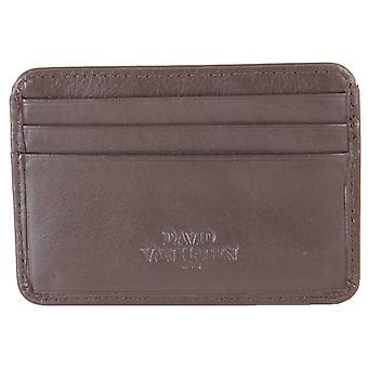 Дэвид ван Хаген 7 держателя кредитной карты - коричневый