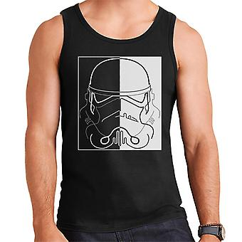 Original Stormtrooper Line Art Two Tone Helmet Men's Vest