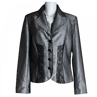 Tuzzi Women's Lace Panel Detail Fitted Jacket