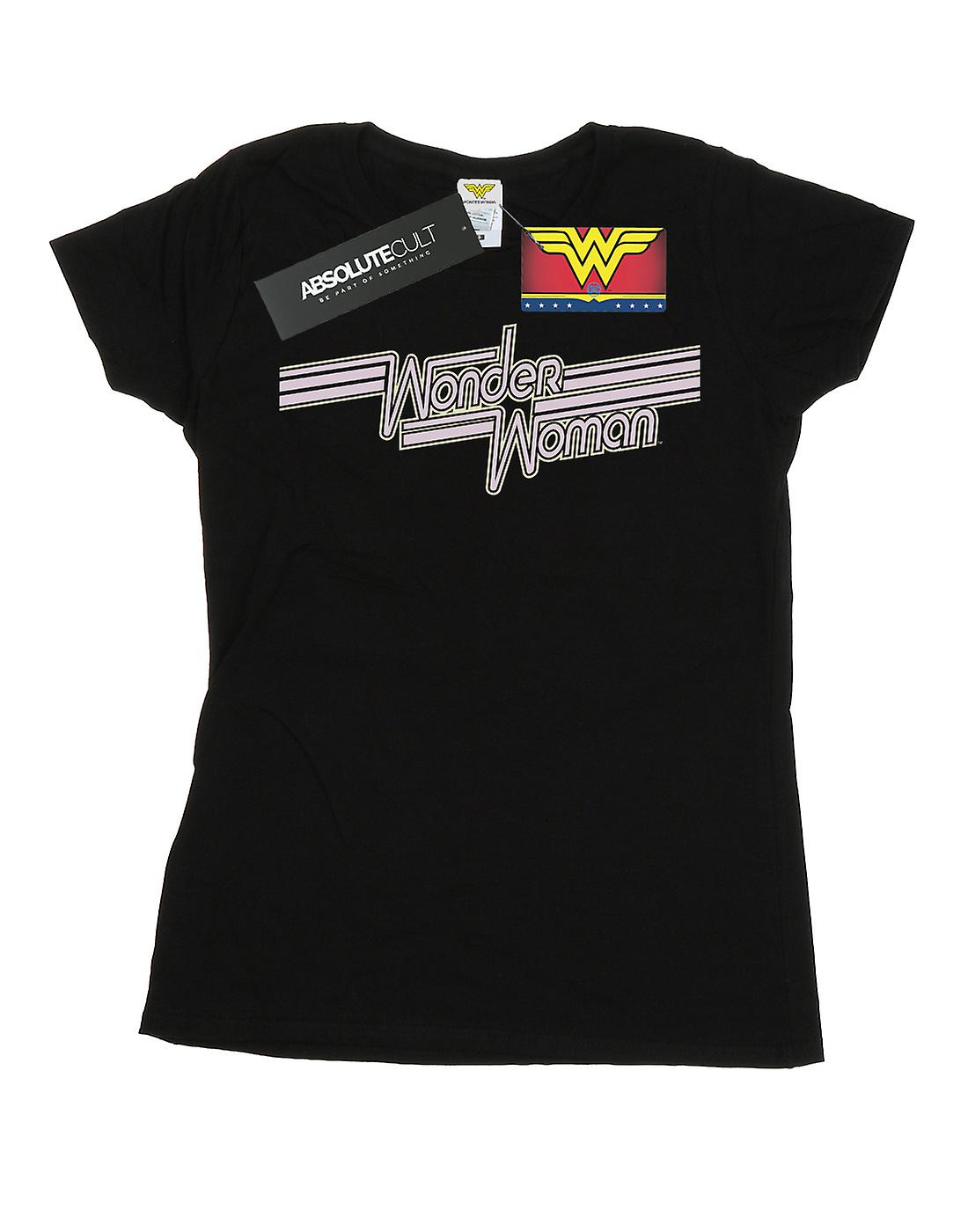 DC Comics Women's Wonder Woman Lines Logo T-Shirt