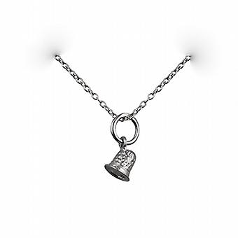 Silver 6x6mm seamstress's Thimble Pendant with a rolo Chain 24 inches