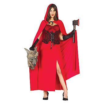 Womens Red Riding Wolf Huntress Fancy Dress Costume