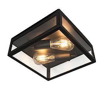 Lampada da soffitto quadrati industriale QA-QA 2 Black IP23 - Rotterdam