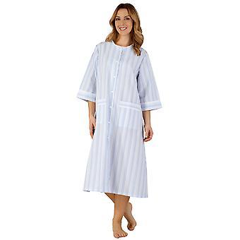 Slenderella HC3224 女性の織ストライプ ローブ ガウン