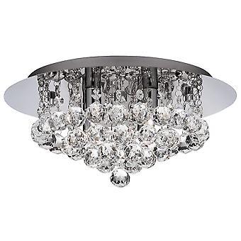 Hanna Chrome 4 Semi di luce plafoniera incasso con cristalli - Searchlight 3404-4CC