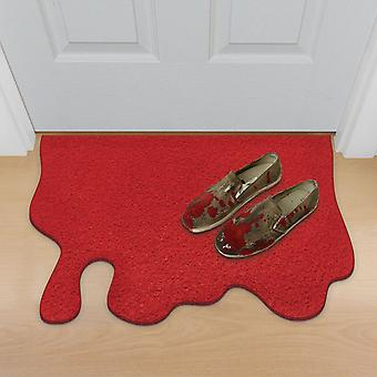 Bloody doormat red, made of polypropylene, non-slip PVC rubber bottom.