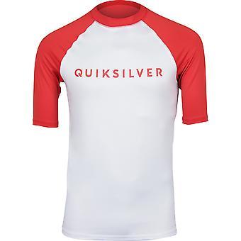 QUIKSILVER Mens sempre lì SS UPF 50 Rashguard - alto rischio rosso