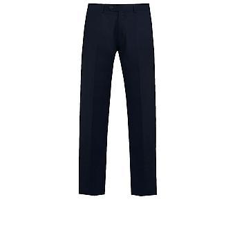 Granatowy garnitur Dobell męskie spodnie regularny krój