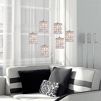 Pendant Light Home Dining Room Pendant Lamp Chandelier Décor 6 Pendant Oval Canopy
