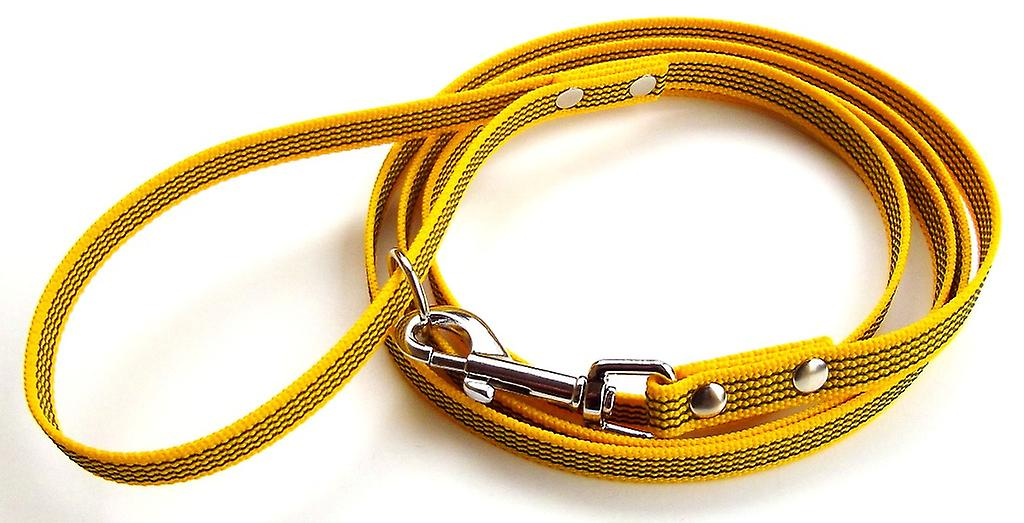 Super-Grip leash, yellow 15 mm wide