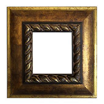 13x13 cm or 5x5 inch, gold Frame