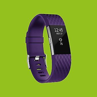Fitbit Charge 2 Muovi/silikoni ranne koru miehille/koko L violetti Watch