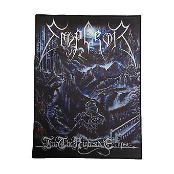 Emperor Back Patch Nightside Eclipse Official Black Cotton Sew On 36cm x 29cm