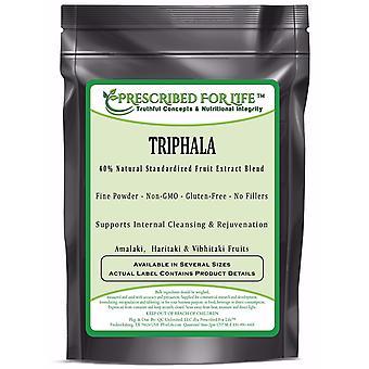 Triphala - 40% Natural Extract Powders of Amalaki, Haritaki & Vibhitaki Fruits of India