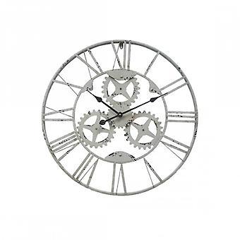 Furniture Rebecca Clock To Wall Metal Gears Industrial 70x70x4