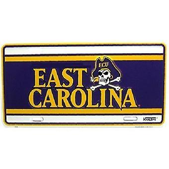 East Carolina Pirates NCAA Team Color License Plate