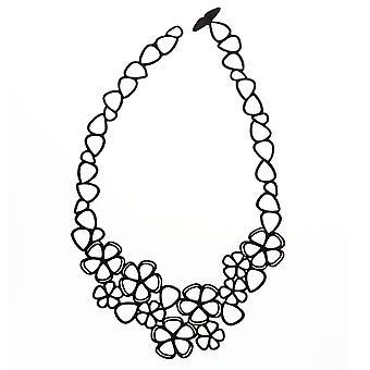 Batucada Skin Jewellery Batucada Black Sweet Flowers Necklace  8-01-01-04-BLACK