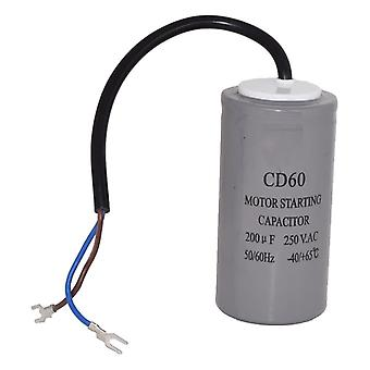 Universal 200UF / 200MFD AC Motor Start Capacitor with Cable 250v