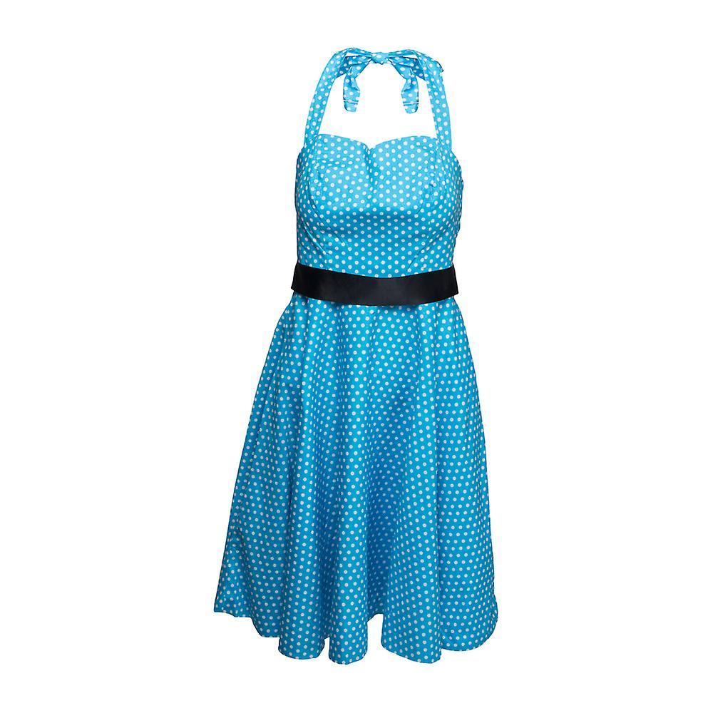 Klänning halterneck rockabilly - Polka Coctail Dress