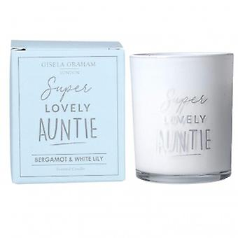 Gisela Graham Lovely Auntie Candle | Gifts From Handpicked