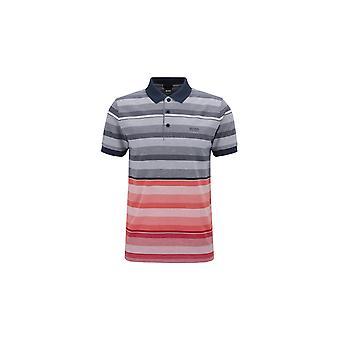 BOSS Athleisure Boss Paule 2 Slim Fit Polo Shirt Navy Stripe