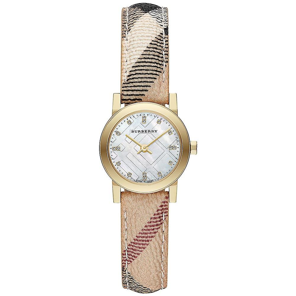 Burberry Bu9226 The City Diamond Accent Haymarket Strap Ladies Watch