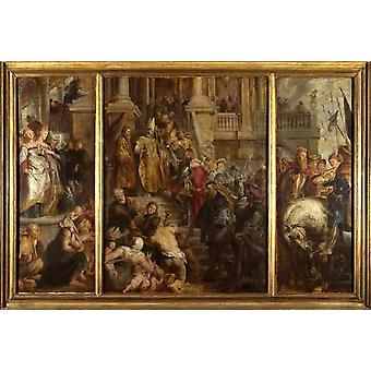 Saint Bavo About to Receive the, Peter Paul Rubens, 60x40cm