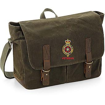 Royal Fusiliers Veteran - Licensed British Army Embroidered Waxed Canvas Messenger Bag