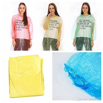 Emergency Water Proof Rain Ponchos With Hoods