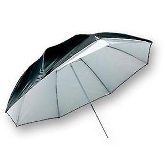 BRESSER SM-05 reflekterende gennemskinnelig paraply hvid/sort 91cm
