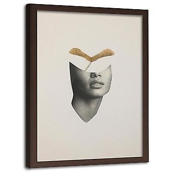 Immagine in cornice marrone, Acero Semi Collage
