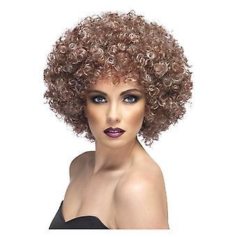 Marrón para mujeres Afro peluca disfraces accesorios