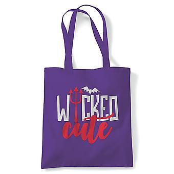 Wicked Cute, Tote - Halloween Reusable Canvas Bag Cadeau