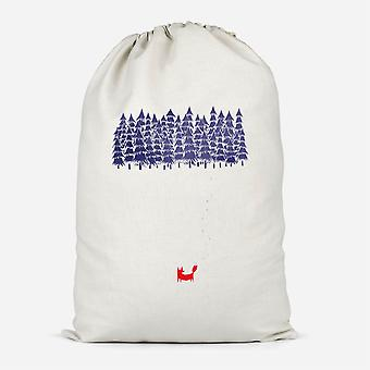 Alone In The Forest Cotton Storage Bag