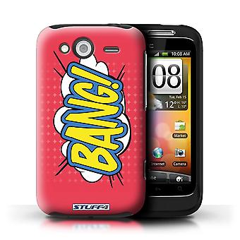 STUFF4 Case/Cover for HTC Wildfire S/G13/Bang!/Comics/Cartoon Words