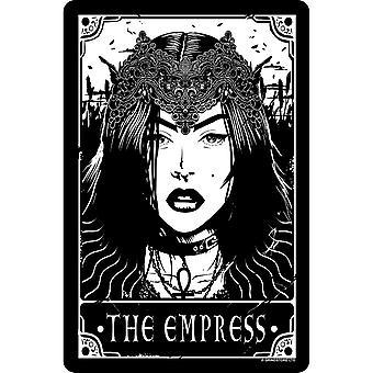 Deadly Tarot The Empress Tin Sign