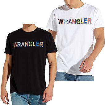 Wrangler Mens Multi Colour Logo Short Sleeve Cotton Crew Neck T-Shirt Tee Top