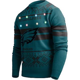LED Light Up XMAS Knit Sweater - NFL Philadelphia Eagles