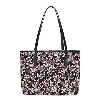Golden fern shoulder tote bag by signare tapestry / coll-gfern